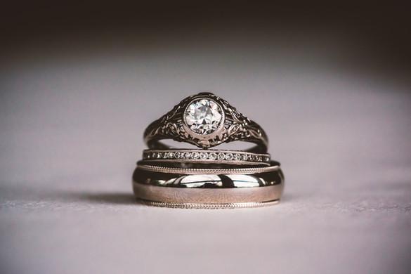 Silber-Ring-Stapel