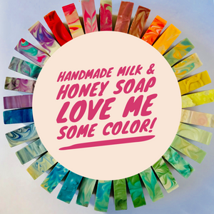 Soap color wheel Love me some Milk and Honey Soap