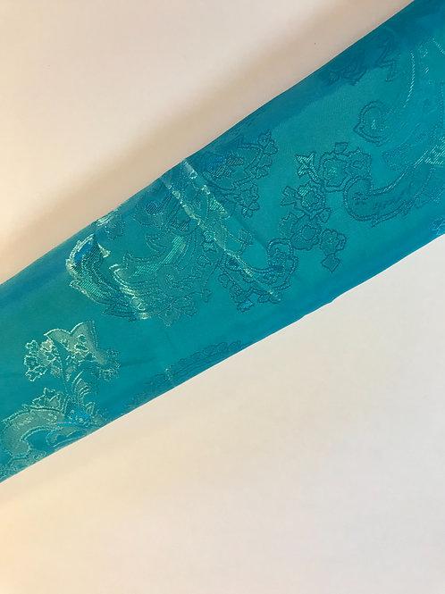 Beautiful turquoise on turquoise paisleys