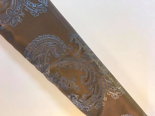 Brown with Grey Taupe Paisley