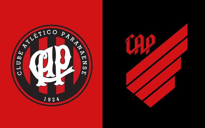 Antiga e nova marca do Atlético Paranaense