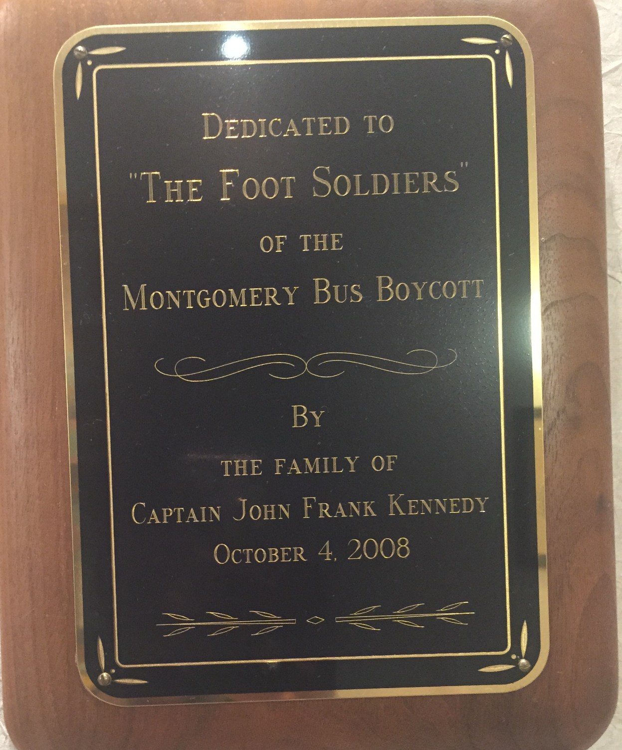 Footd soldiers plaque