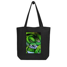 "Tote bag ""Green Cat Snake"" by ""Culpeo-Fox"""