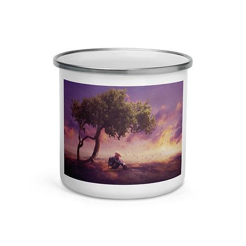 "Enamel Mug ""Where the Wind Takes Me"" by Elysekh"