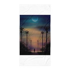 """Beach Towel """"Alone"""" by Saddielynn"""