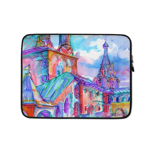 """Laptop sleeve """"Caramelle Architecture"""" by Solar-sea"""