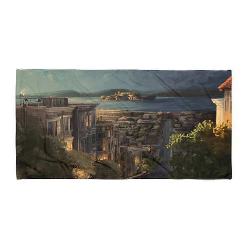 """Beach Towel """"Alcatraz"""" by """"chateaugrief"""""""
