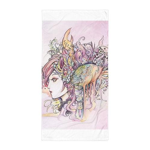 """Beach Towel """"Cancer"""" by """"Hellobaby"""""""