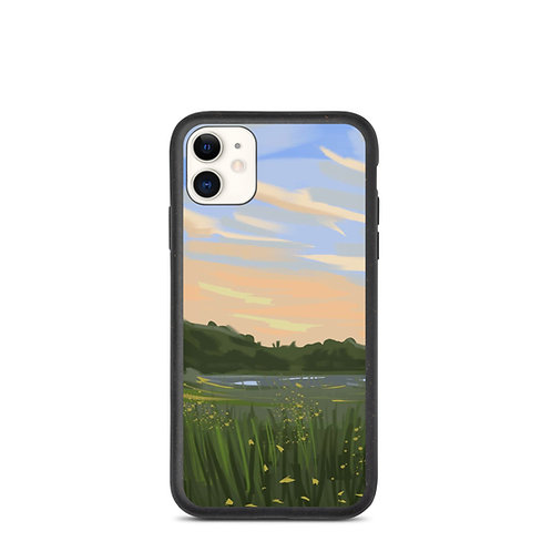 """iPhone case """"Lake Views"""" by Hartdrawss"""