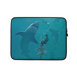 """Laptop sleeve """"Pearl Diver"""" by Vashperado"""