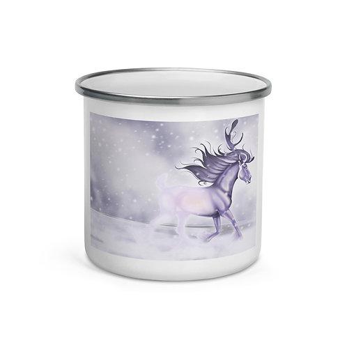 """Enamel Mug """"Arctic Ghost"""" by Astralseed"""
