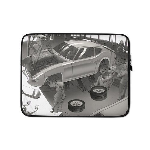"""Laptop sleeve """"Garage"""" by Ccayco"""