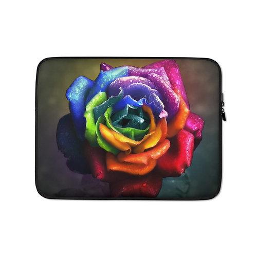"Laptop sleeve ""Rainbow Dream Rose"" by Lilyas"