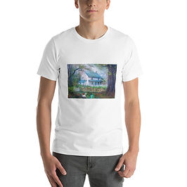 """T-Shirt """"Country Cottage"""" by phatpuppyart-studios"""