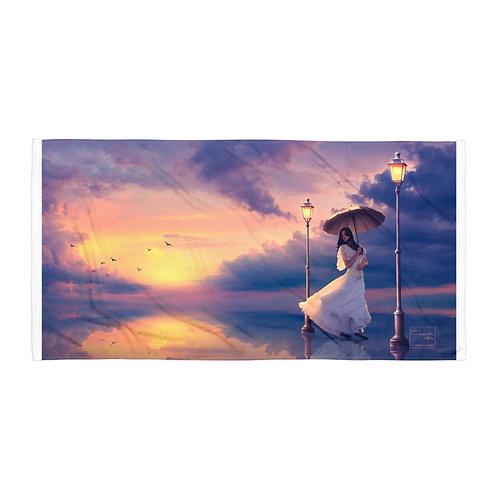 "Beach Towel ""Romantic Walk"" by Elysekh"