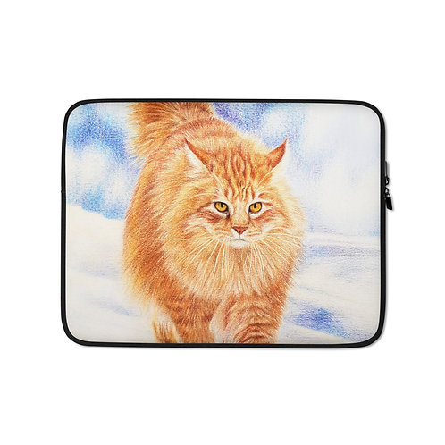 """Laptop sleeve """"Fire and Ice"""" by Beckykidus"""