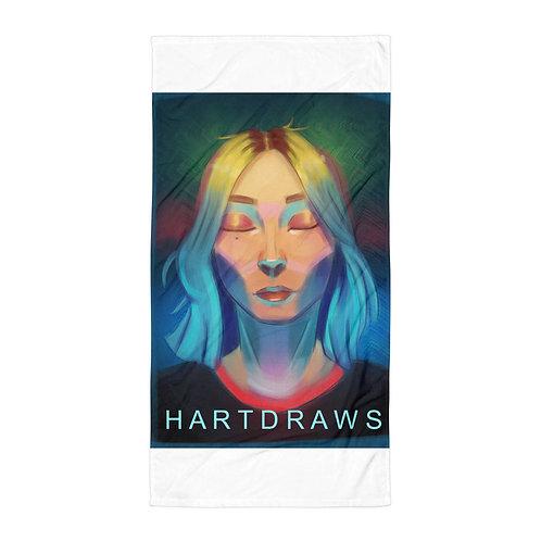 "Beach Towel ""Lemon Girl"" by Hartdrawss"