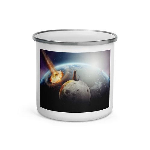 "Enamel Mug ""Cat Victory"" by Hotamr"