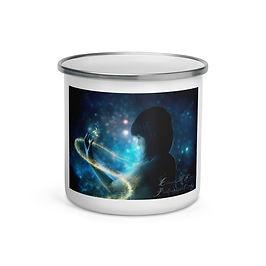 "Enamel Mug ""Child of the Universe"" by ""phatpuppyart-studios"""