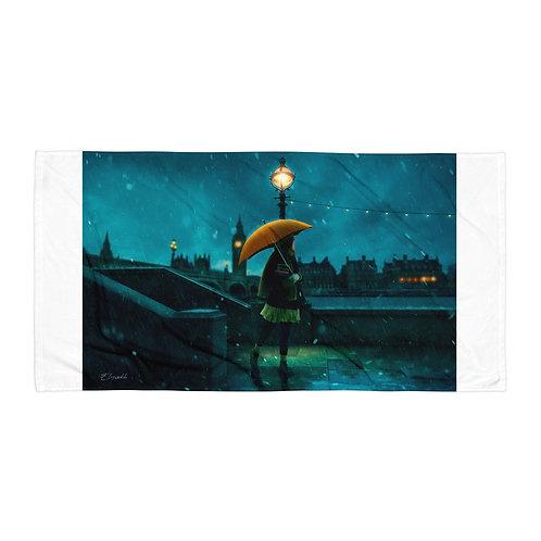 "Beach Towel ""Under the Rain"" by Elysekh"