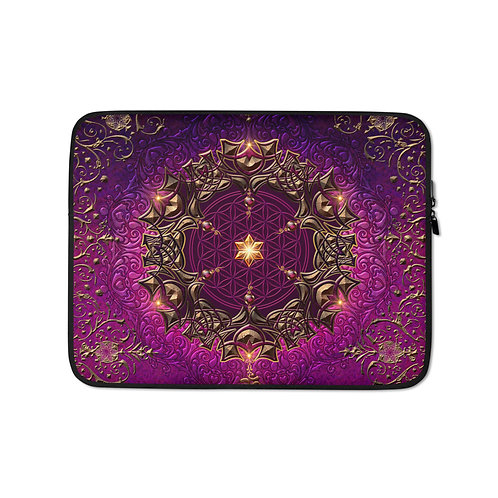 """Laptop sleeve """"Cosmic Love"""" by Lilyas"""