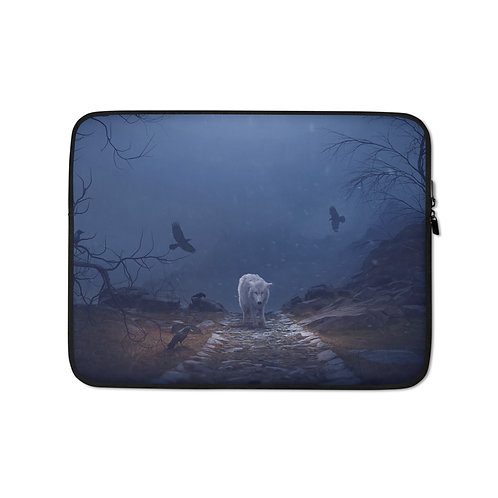 """Laptop sleeve """"The Hill of the Ravens"""" by Elysekh"""