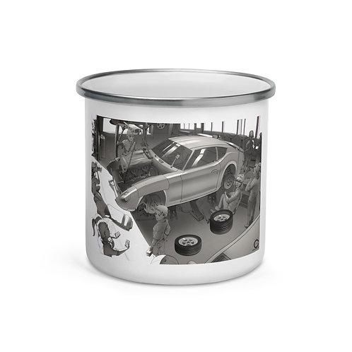 """Enamel Mug """"Garage"""" by Ccayco"""