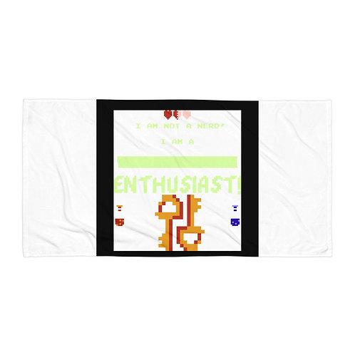 "Beach Towel ""Videogame Enthusiast"" by Rezabisuto"