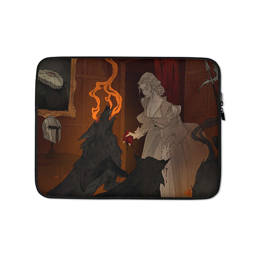 """Laptop sleeve """"Hungry Hellhounds"""" by AbigailLarson"""