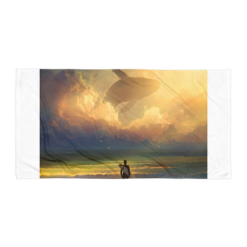 """Beach Towel """"Waiting for the Wave"""" by """"RHADS"""""""
