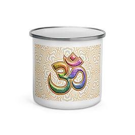 "Enamel Mug ""Sacred Sound Om Aum Mantra"" by ""Lilyas"""