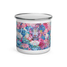 "Enamel Mug ""Wild Springtime"" by ""phatpuppyart-studios"""