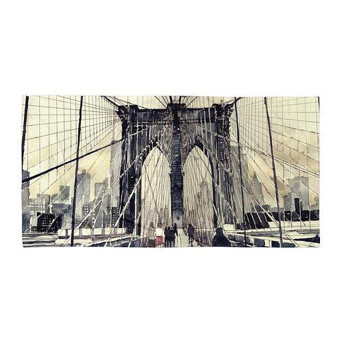 "Beach Towel ""Brooklyn Bridge"" by ""Takmaj"""