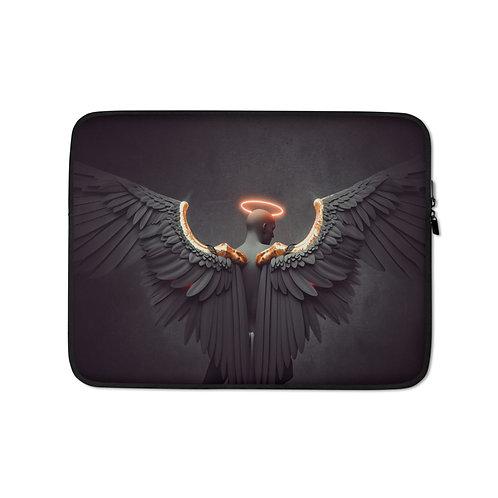 """Laptop sleeve """"Black Sadness"""" by Hotamr"""
