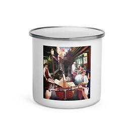 "Enamel Mug ""Rue The Day"" by ""JeffLeeJohnson"""