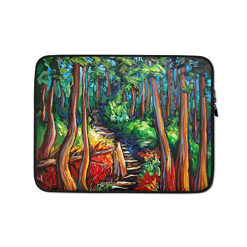 """Laptop sleeve """"The Grind"""" by LauraZee"""