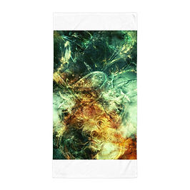 """Beach Towel """"Of Lions and Butterflies"""" by Solar-sea"""