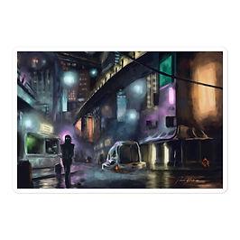 """Stickers """"Cyberpunk City"""" by Hymnodi"""