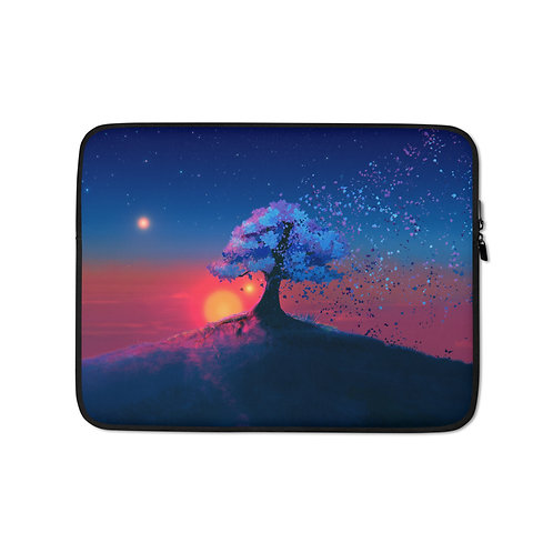 """Laptop sleeve """"Just a Tree and a Breeze"""" by JoeyJazz"""