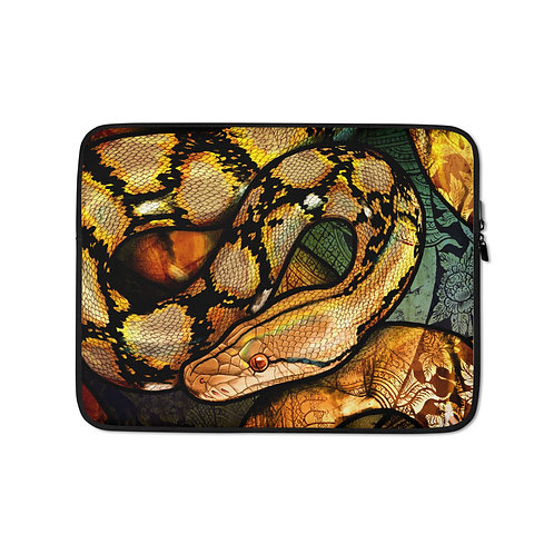 """Laptop sleeve """"Reticulated Python"""" by Culpeo-Fox"""