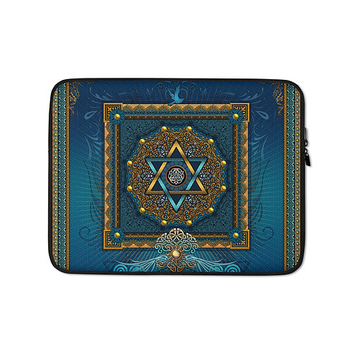 """Laptop sleeve """"Ascension"""" by Lilyas"""