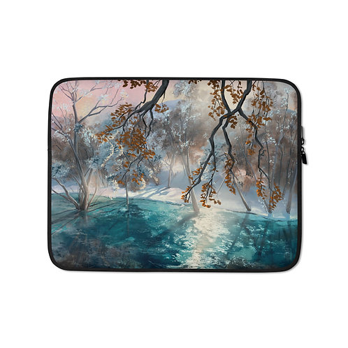 """Laptop sleeve """"Winter Snow"""" by Chateaugrief"""
