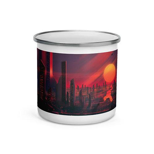 "Enamel Mug ""3019 City of Bright Lights"" by ""JoeyJazz"""