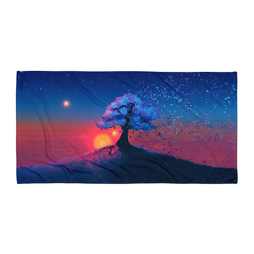 "Beach Towel ""Just a Tree and a Breeze"" by ""JoeyJazz"""