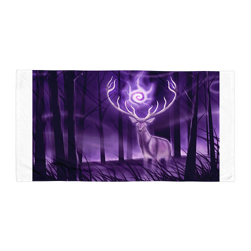 """Beach Towel """"Stag"""" by Astralseed"""