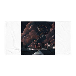 "Beach Towel ""Scales to Fame"" by Saddielynn"