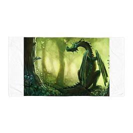 """Beach Towel """"Forest"""" by Hymnodi"""
