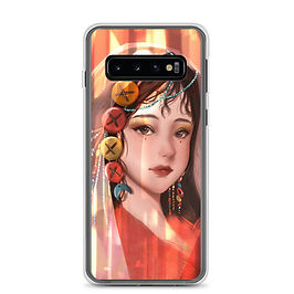 """Samsung Case """"Button Girl"""" by Pigliicorn"""