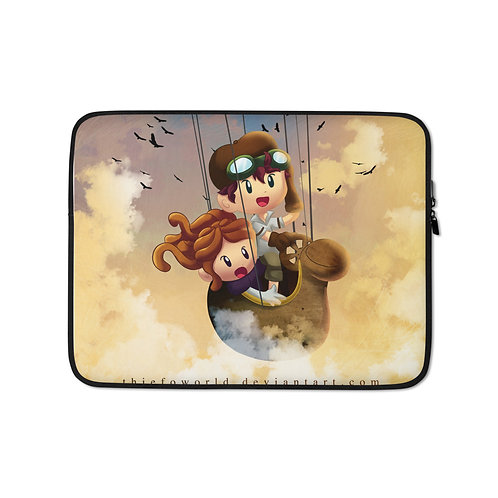 """Laptop sleeve """"City in the Sky"""" by Thiefoworld"""