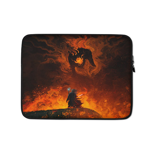 """Laptop sleeve """"The Shadow and the Flame"""" by Anatofinnstark"""